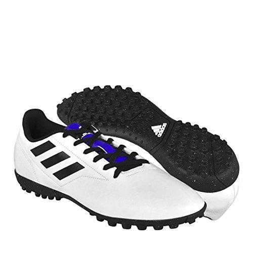Adidas Tenis DE Futbol para Caballero BB0561 SIMIPIEL Blanco Negro 25-28 27 68272e25f414b