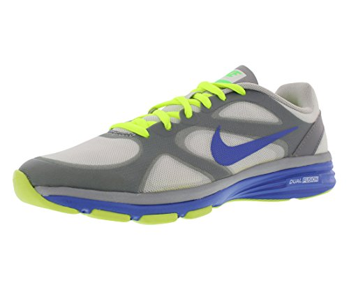 Cheap NIKE Dual Fusion TR Fitness Women's Shoes Size US 9.5, Regular Width, Color Strata Grey/Volt Force/Stadium Grey