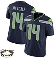 Mens Rugby Jersey Football Jersey Metcalf # 14 Seahawks Competition Uniform Shirts Tracksuits Training Sportsw