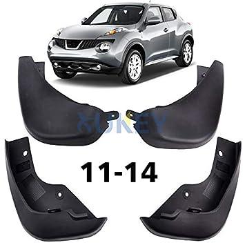 XUKEY - Juego de 4 Protectores de Salpicaduras automáticos Moldeados para 11 - 14 Nissan Juke Mud Flaps - Delantero y Trasero: Amazon.es: Coche y moto