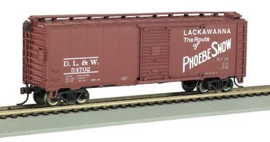Bachmann Trains Lackawanna (Phoebe Snow) 40' Box Car - Lackawanna Boxcar