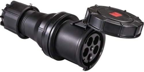 schwarz Stromst/ärke 125 A Pilotkontakt nein SIROX/® CEE-Kupplung IP 67 400 V vernickelte Kontakte ja 6 h 5-polig