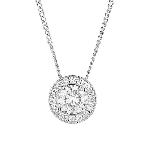 Forever Classic Round Cut 6.0mm Moissanite Pendant Necklace, 0.96ct DEW By Charles & Colvard