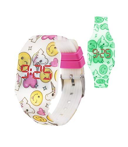 🥇 Kiddus Reloj LED Digital Chica