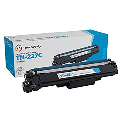 LD Compatible Toner Cartridge Replacement for Brother TN-227C High Yield (Cyan)