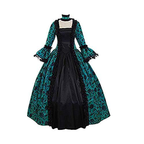 Girls Princess Amanda Costumes - Halloween Costume-Women's Gothic Cosplay Dress Vintage