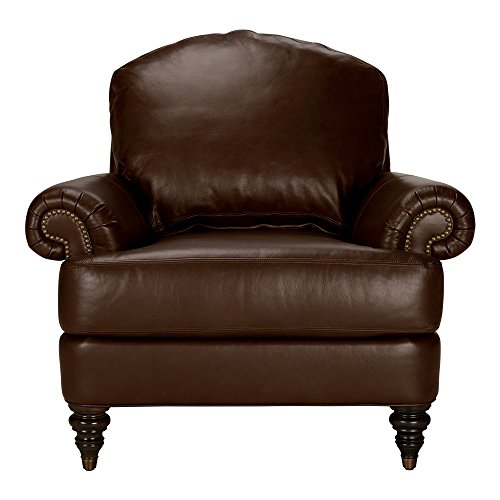 Amazon Com Ethan Allen Hyde Leather Chair Omni Brown Top