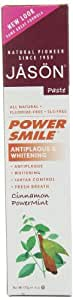 JASON Cinnamon Mint PowerSmile Whitening Toothpaste, 6 Ounce Tubes (Pack of 3)