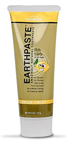 All Natural Non-Fluoride Vegan Organic Non GMO Real Ingredients Toothpaste, Lemon Twist (Natural Organic Twist)