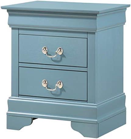 Glory Furniture Hammond Bedroom Furniture, 2 Drawer NightStand, Teal
