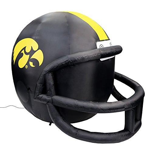 NCAA Iowa Hawkeyes Team Inflatable Lawn Helmet, Black, One Size