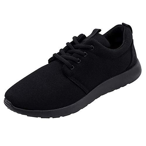 Negro Sneakers de Logobeing Cordones Correr Fitness Zapatillas Mujer Zapatilla Casuales Zapatos Vuelo Entrenadores para Deportivas de UqTwBcZqap