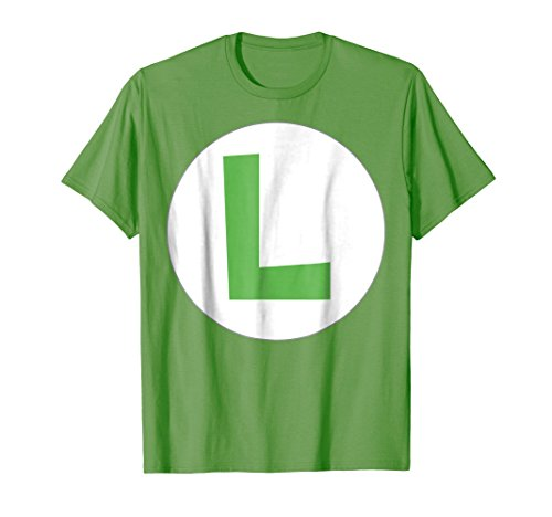 Nintendo Super Mario Luigi Icon Costume Graphic T-Shirt -