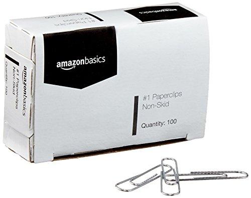 AmazonBasics No. 1 Paper Clips, Nonskid, 100 per Box, 10-Pack Photo #4