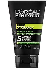 L'Oreal Paris Men Expert Men Expert Daily Face Wash for Men With Black Oak Charcoal, 100 ml