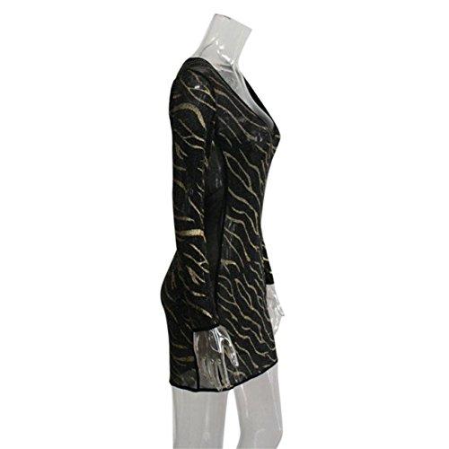 Donne Scollo A V Maniche Lunghe Bodycon Dress Partito Abito Da Sera Senza Maniche Estate Primavera Prom Costume Mode Elegante Pizzo Chiffon Poliestere Cotone