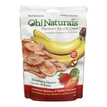 Oh! Naturals Strawberry Banana Chips,Gluten free,Nut Free, Crunchy, Delicious, Nutritious, Dried Fruit Snack, Fruit…