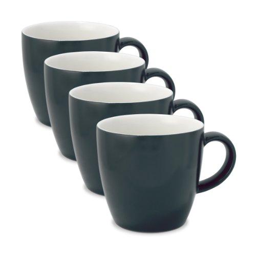 FORLIFE Uni Espresso/Oolong Tea Cup (Set of 4), 3.5 oz., Black Graphite