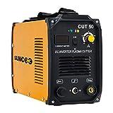 SUNCOO Cut 50 Plasma Cutter Electric DC Inverter Cutting Machine with Digital Display Dual Voltage 110/220V, 1/2