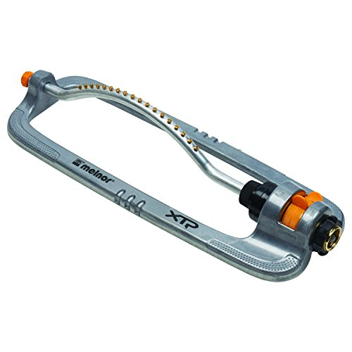 - Melnor XT Metal Turbo Oscillating Sprinkler; Waters up to 4000 sq. ft.