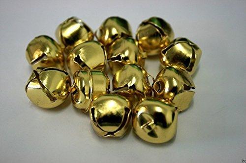 Campanellini da Gatto, Ciondoli Natalizi Jingle Bells - Oro 20mm - 50 Campanelli Swincraft2
