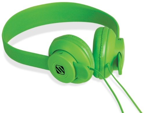 - SCOSCHE SHP400-GN lobeDOPE On-Ear Headphones - Retail Packaging - Green