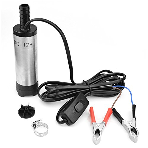 Preamer 12V 30LPM Aluminum Diesel Fuel Water Oil Transfer Refueling Submersible Pump ()