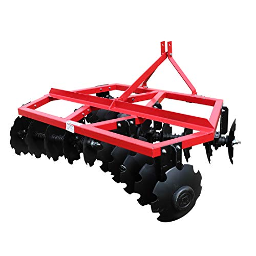 (Titan Distributors Inc. Category 1 3 Point Notched Disc Harrow Plow for Kubota New Holland Tractors | 6 Feet)