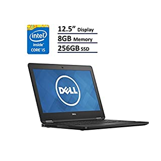 "Dell Latitude 12 7000 E7270 Business Ultrabook: 12.5"" (1366x768), Intel Core i5-6300U, 256GB SSD, 8GB DDR4, Windows 10 Professional (Renewed)"