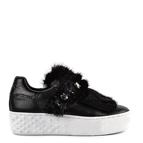 Cuir Femme en DJIN Noir Footwear Baskets Chaussures Ash wYqU06H