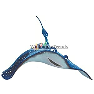 11 Inch Mr Ray Stingray Teacher Finding Nemo 2 Movie Removable Peel Self Stick Wall Decal Sticker Art Bathroom Kids Room Walt Disney Pixar Home Decor Boys Girls 11 inches wide by 8 inches tall