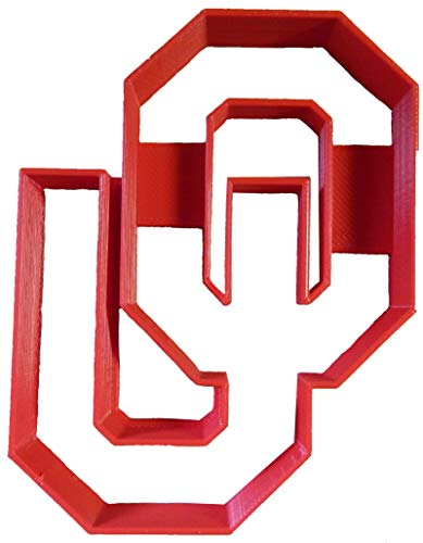 UNIVERSITY OF OKLAHOMA SOONERS OU LOGO TEAM SPORTS NCAA D1 ATHLETICS SPECIAL OCCASION COOKIE CUTTER BAKING TOOL 3D PRINTED MADE IN USA PR2272 (Ou Logo)
