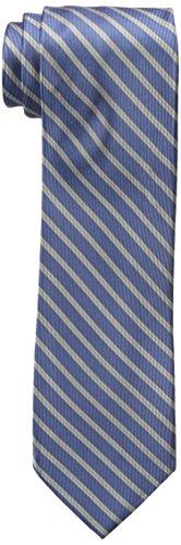 Blue Stripes Woven Silk Tie - 8
