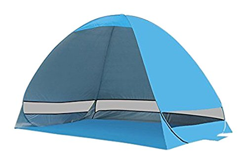 PortableFun Pop Up UV Beach Tent, Blue