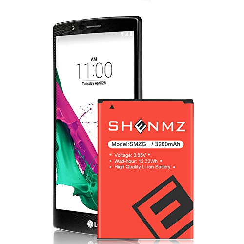 SHENMZ Battery Compatible with LG G4 Battery (Upgraded) | 3200mAh Replacement LG BL-51YF Battery for LG G4 US991 H812 H815 H810 H811 LS991 VS986 | LG G4 Spare Battery (24 Month Warranty)
