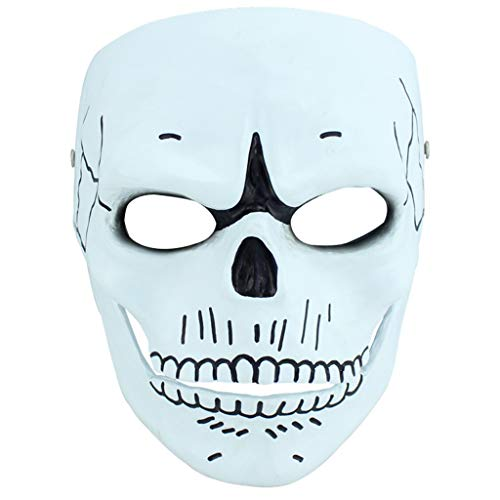 Masks Halloween Christmas 007 Ghost Party Resin Human Smiley COS Movie Theme Terrorist Party Collector's Item Dress Up & Pretend Play (Color : White, Size : 1821CM/78inch) ()