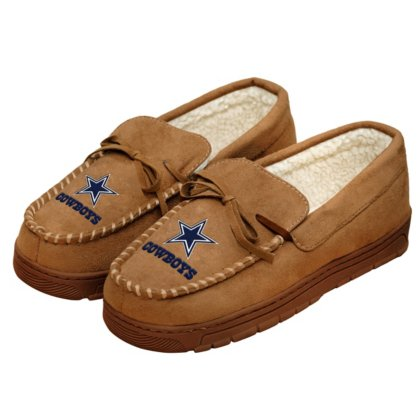 Dallas Cowboys Mens Moccasin Slippers - Size Large by Dallas Cowboys