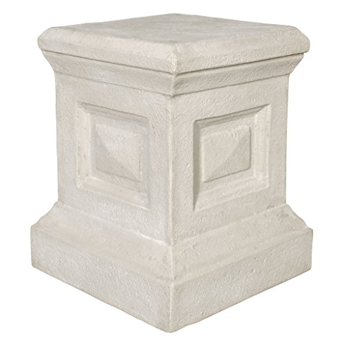 Design Toscano Neoclassical Grand Garden English Plinth Pedestal Stand by Design Toscano