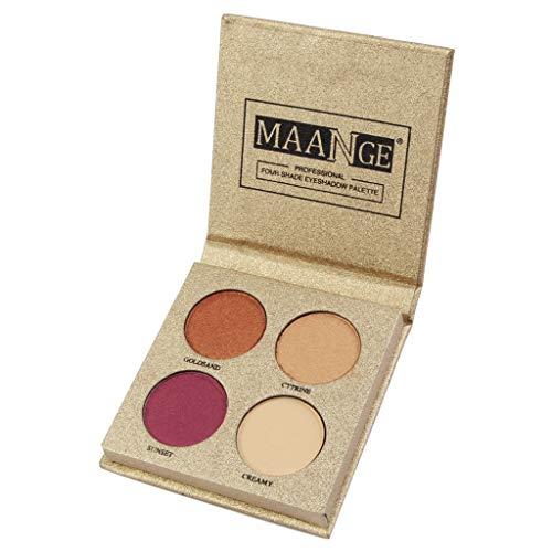 Make-Up Eye Shadow Palette - NEEKEY Waterproof 4 Color Round Matte Matte Eye Shadow