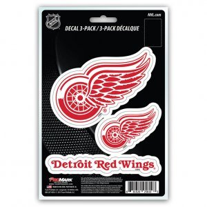- NHL Detroit Red Wings Team Decal, 3-Pack