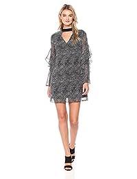 Sam Edelman Womens Printed Choker Shift Dress