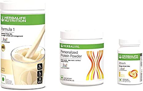 Herbalife Weight Loss Package Vanilla Shake 500gm Personalized Protein Powder 200 Gm And Afresh Lemon 50 Gm