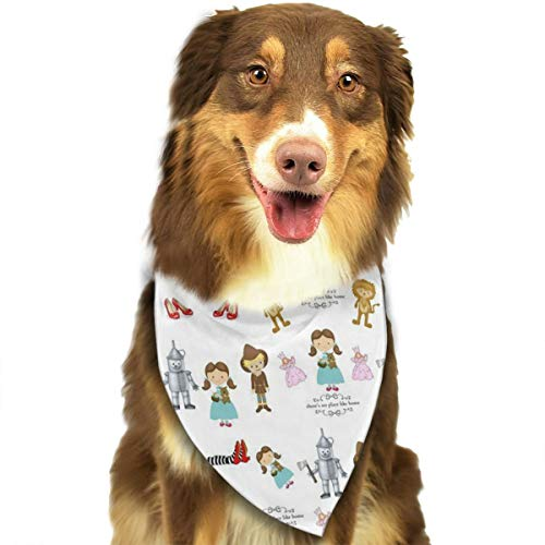JWKSY Dog Bandana Scarf Wizard of Oz Triangle Bibs Printing Kerchief Set Accessories Dogs Cats Pets ()