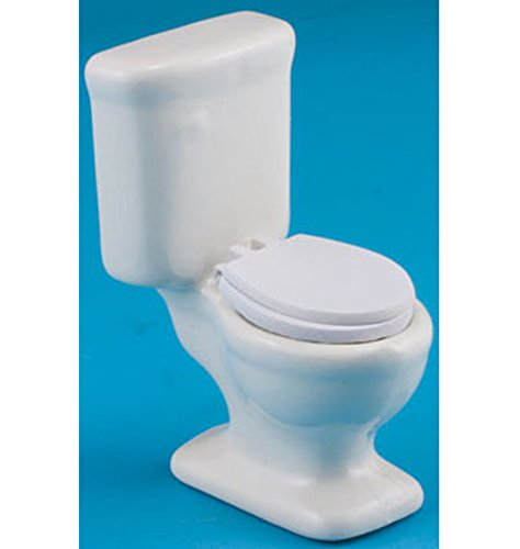 Dollhouse Miniature 1:12 Scale Single White Toilet by Handley House