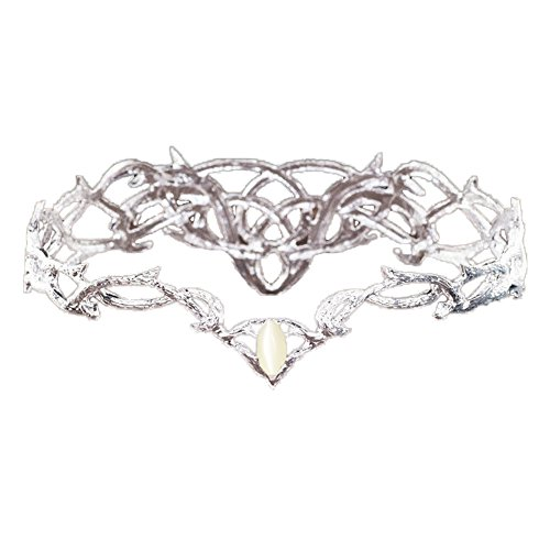 Marrol Bridal Crown Hair Jewelry For Wedding Party Pageant Silver Plated Headdress]()