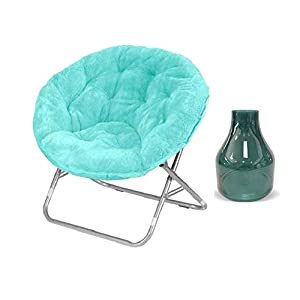 Urban Shop Micromink Saucer Chair with Metal Frame