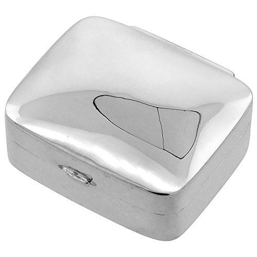 Sterling Silver Rectangular Shape Polished
