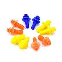 New 5 Pairs Swimming Mushroom Ear Plug Soft Silicone Waterproof Protector Tool