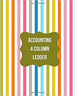 Accounting 4 Column Ledger: Accounting Register Log Book