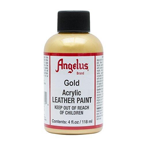 (Angelus Acrylic Leather Paint-4oz.-Gold)
